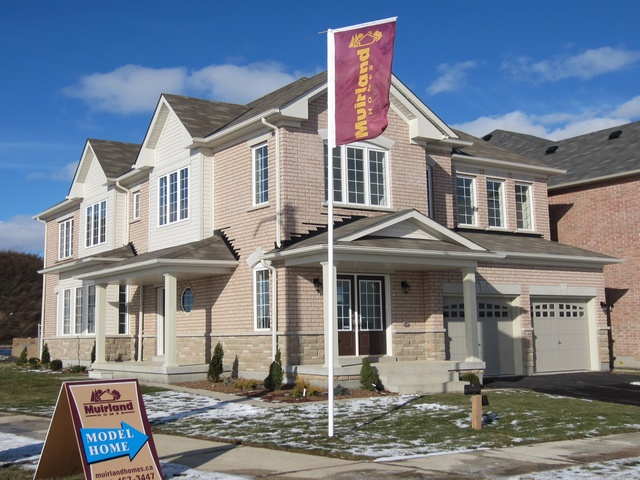 Model Homes of semi and detached located along Mississauga Rd. at Bovaird Dr. West, Brampton near the Mount Pleasant GO station in Spring Valley Village.  Corner of Elbern Markell Dr. and Yardley Cr. New Homes for sale in Brampton